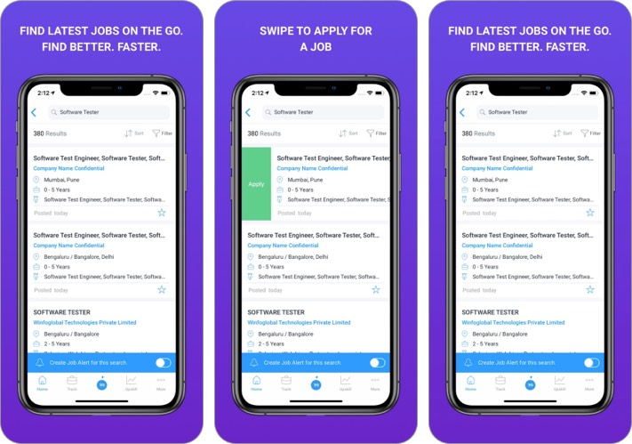Monster best job search apps for iPhone screenshot