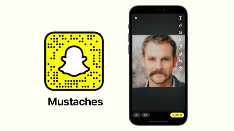 Усы от фильтра Snapchat