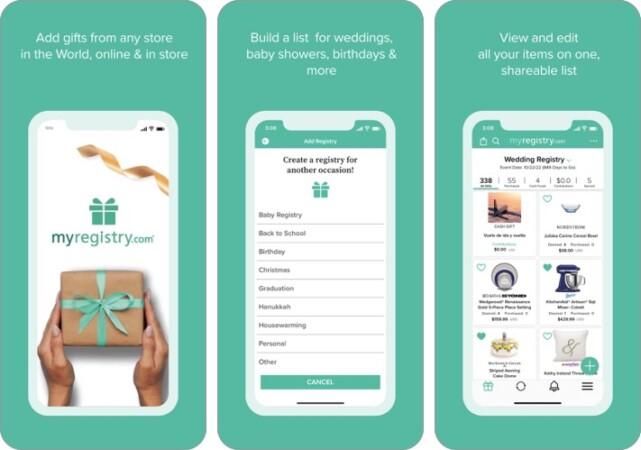 MyRegistry Universal Registry iphone app screenshot