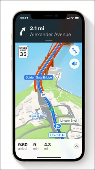 New features of Apple Maps in iOS 15