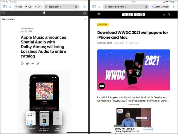 Open multiple windows of the same app on iPad