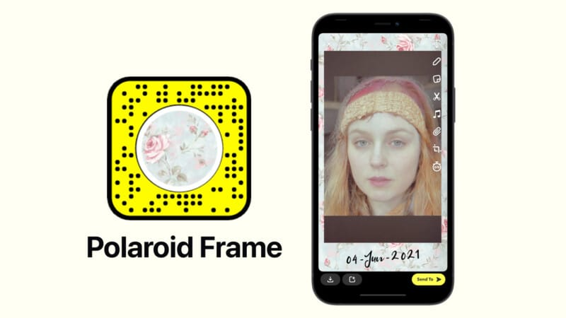 Кадр Polaroid от Самана Хасана, фильтр Snapchat