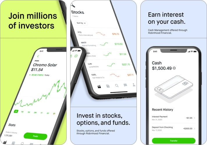 Robinhood-best-cryptocurrency-apps-for-iPhone-screenshot