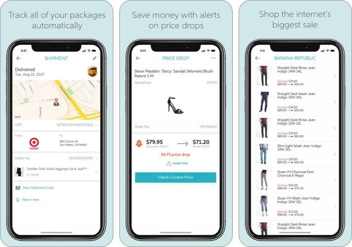 Slice gift tracking iPhone app screenshot