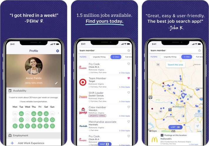 Snagajob best job search apps for iPhone screenshot