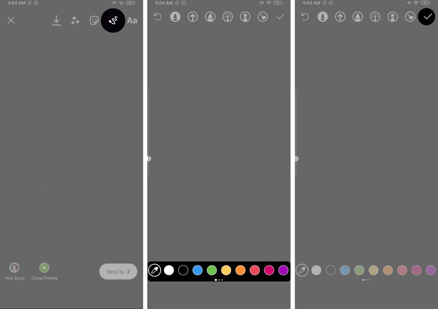 Инструмент для рисования в Instagram на Android