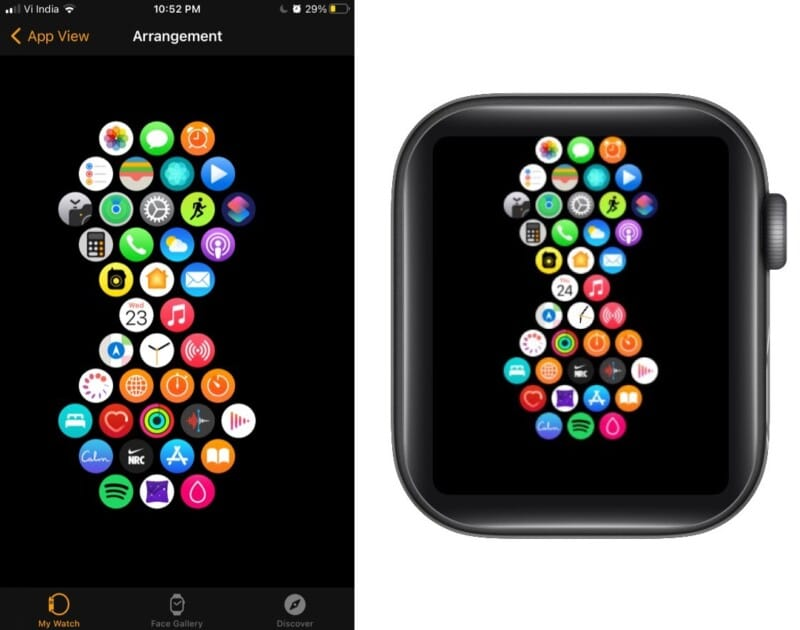 Time-saving hourglass on Apple Watch
