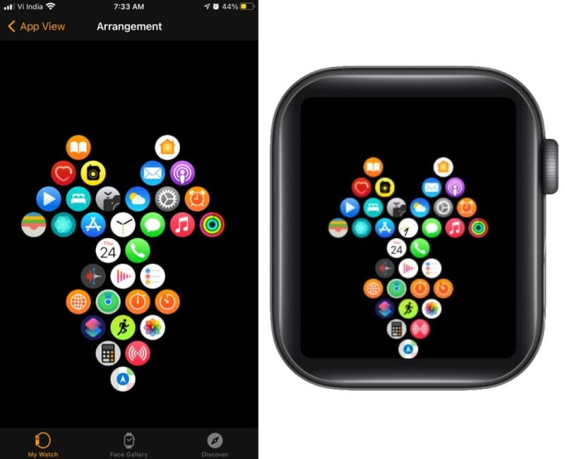 Triangles of productivity on Apple Watch