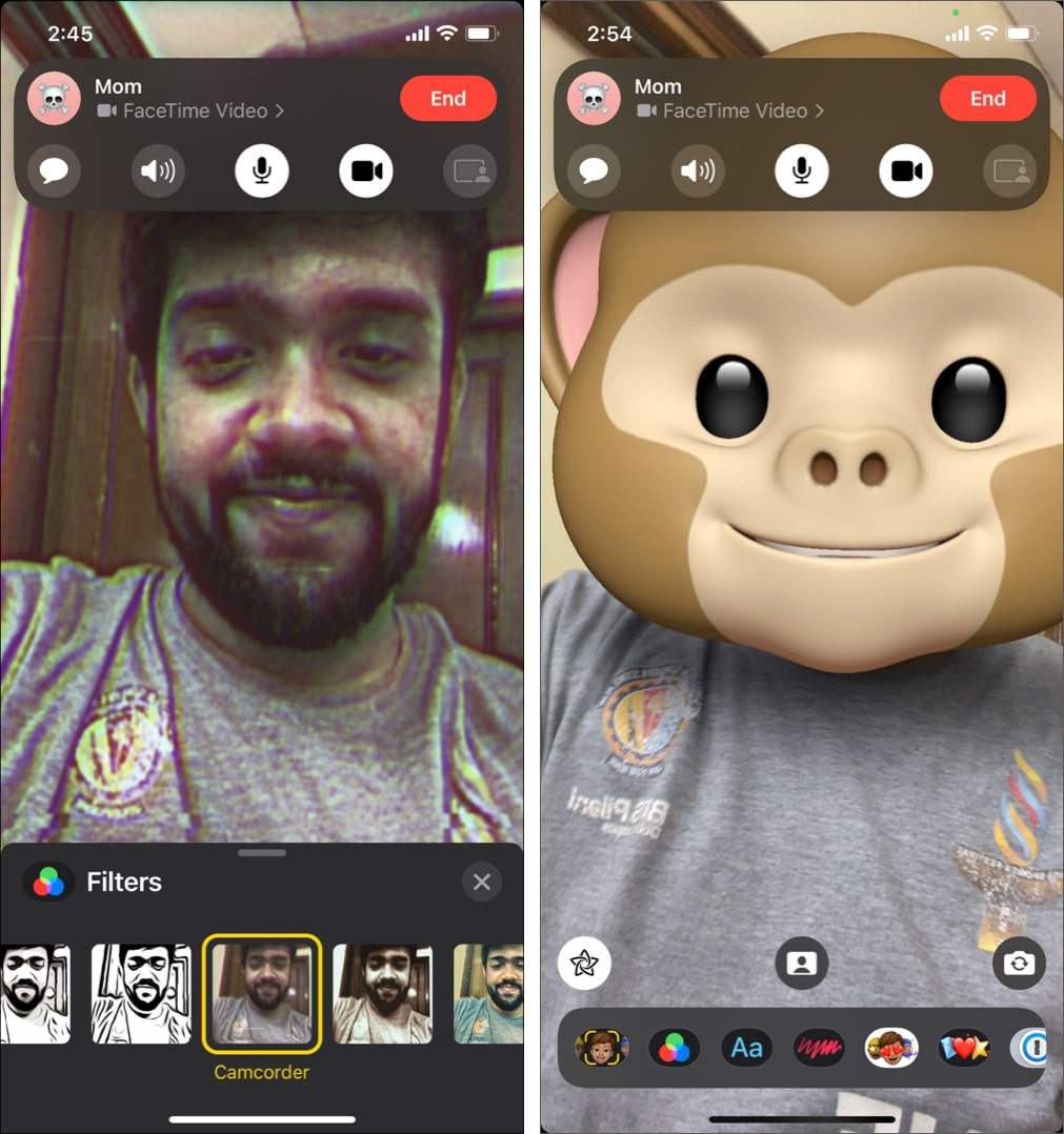 Use effects in FaceTime on iPhone