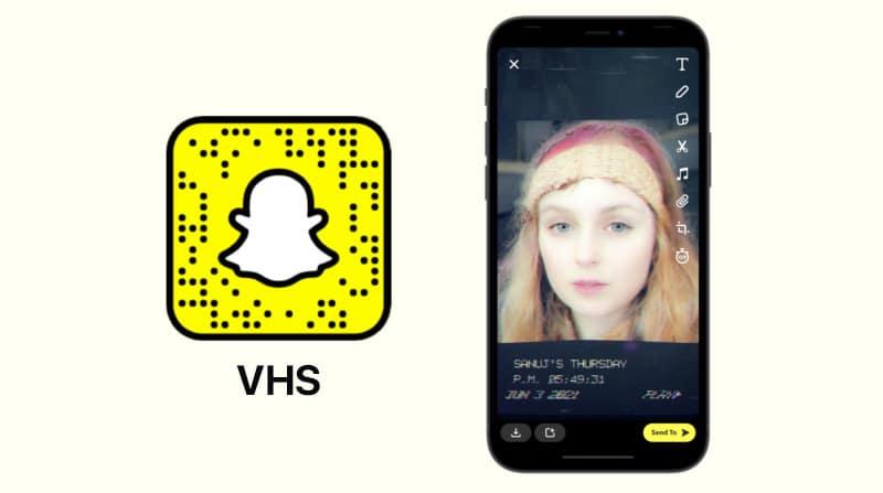 Фильтр VHS от Snapchat