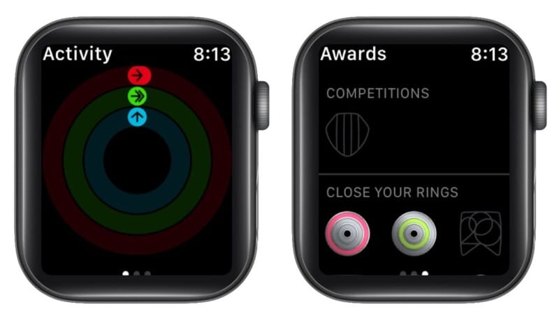 View your activity awards from Apple Watch