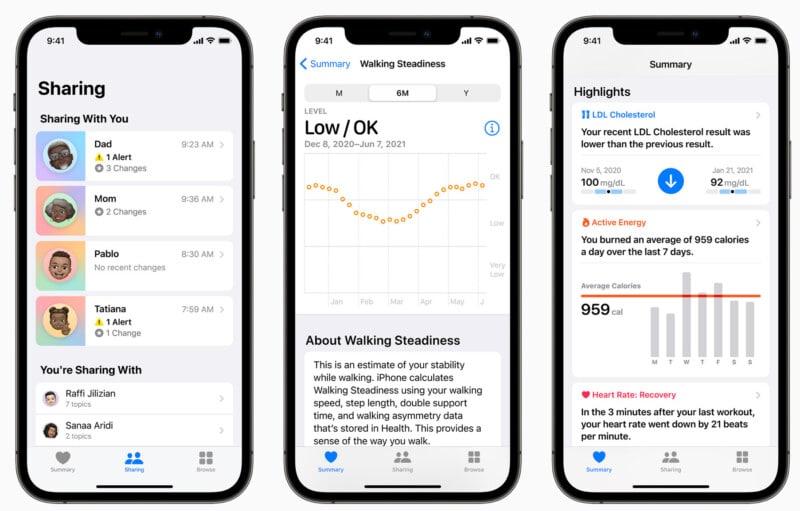 Was ist die gemeinsame Nutzung von Gesundheitsdaten in iOS 15?