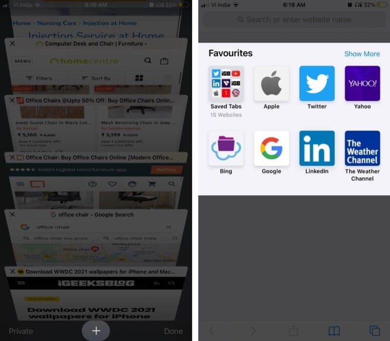 Wo werden meine Lesezeichen in Safari in iOS 14 gespeichert?