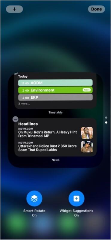 Widget suggestions iOS 15 hidden feature