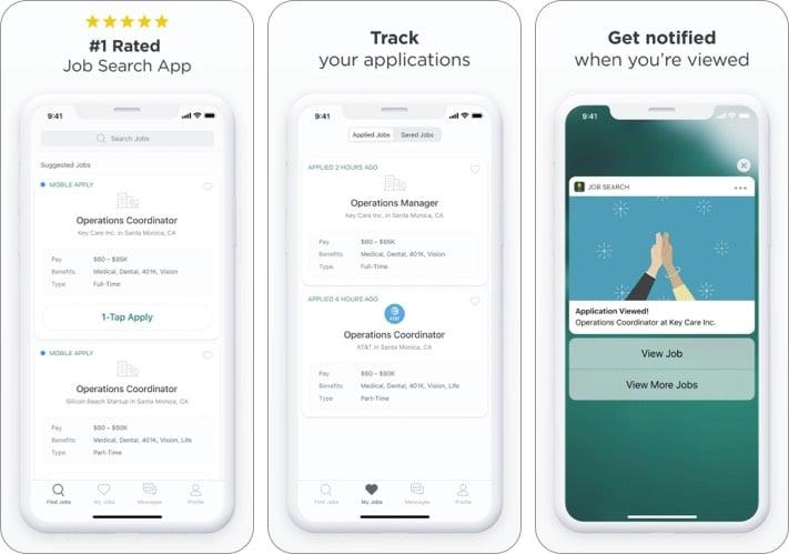 Zip Recruiter best job search apps for iPhone screenshot