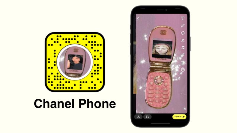 фильтр для телефона chanel Snapchat