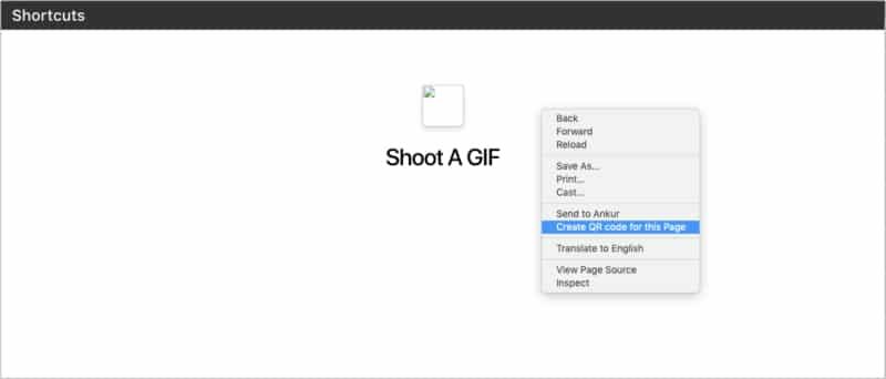 Создать QR-код для этой страницы в Chrome