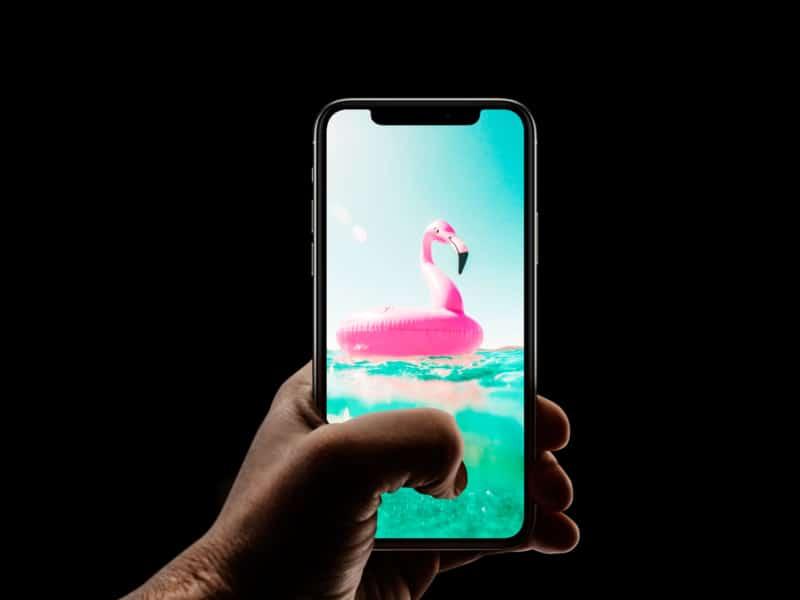 Cute beach float iPhone wallpaper