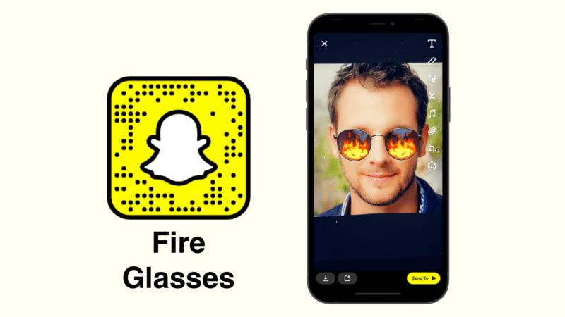 Огненные очки Snapchat фильтр