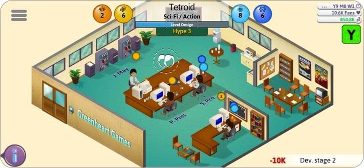 Spielentwickler Tycoon Indie-Spiel Screenshot