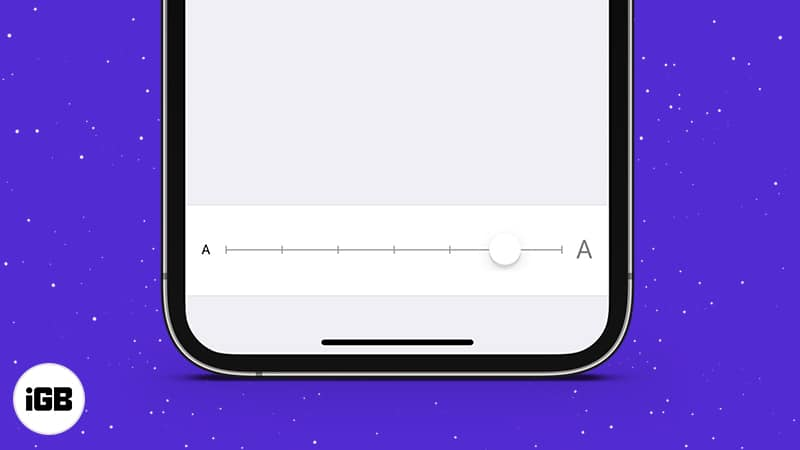 How to increase font size on iPhone