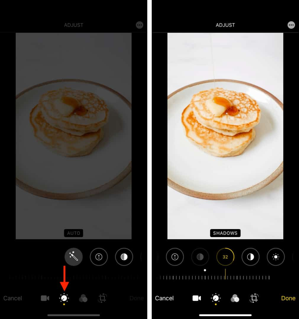 How to manually change video visual effects on iPhone