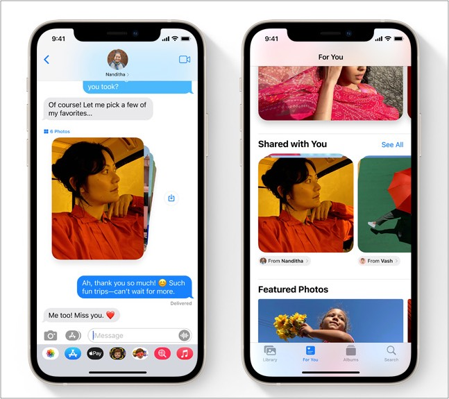 iOS 15 updates in Messages app for iPhone