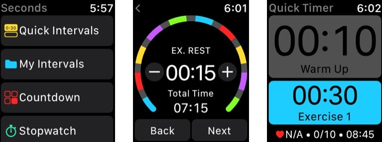 Интервальный таймер - приложение секундного таймера HIIT для Apple Watch