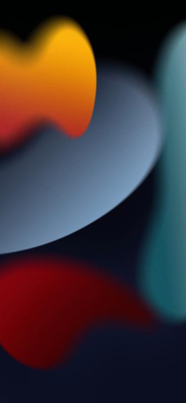 iOS 15 official dark wallpaper