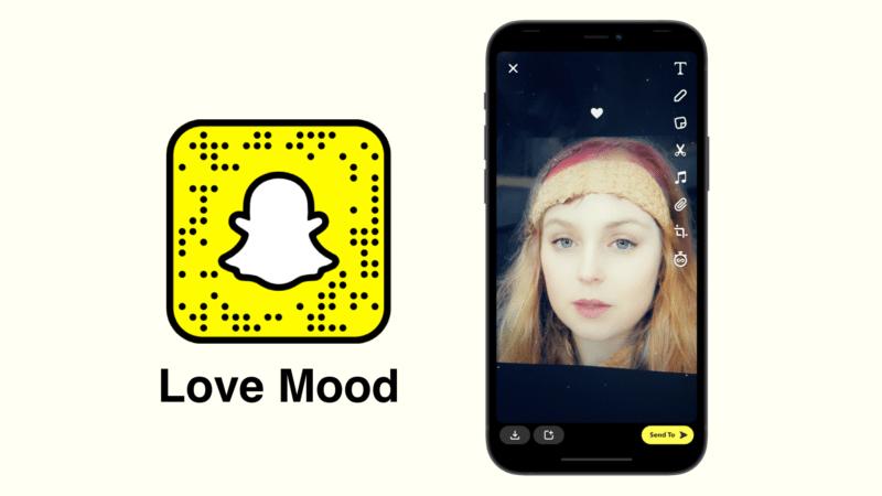 любовь настроение Snapchat фильтр