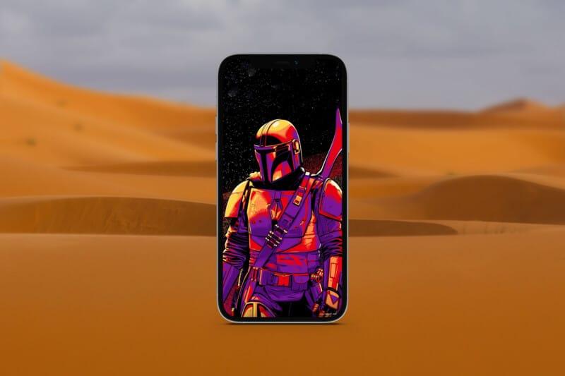 мандалорские обои для iphone 9