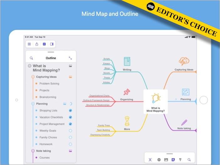 Приложение MindNode mind mapping для iPhone и iPad