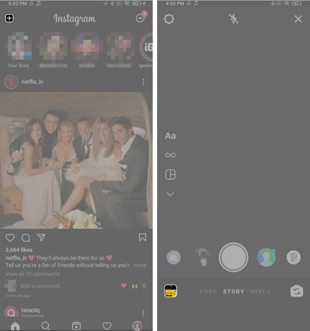 открытые истории instagram android