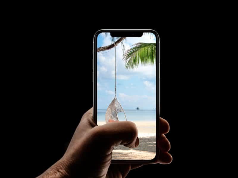 Relaxing iPhone beach wallpaper HD