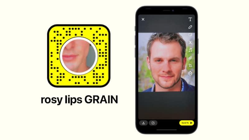 rosy lips GRAIN by NĪK Snapchat filter