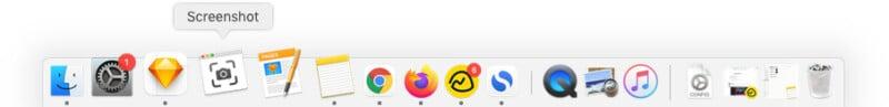 Screenshot app on Mac Dock