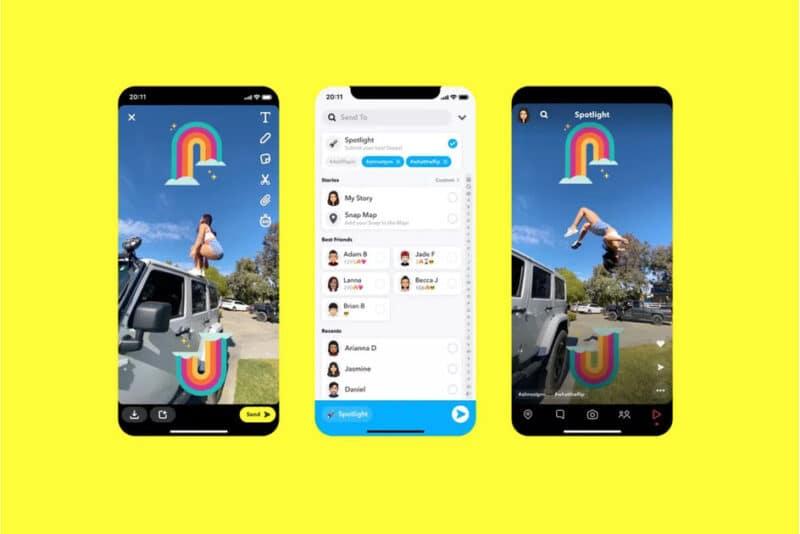 Snapchat Spotlight feature
