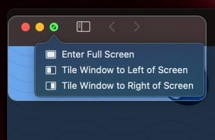 Split-Screen-Menü