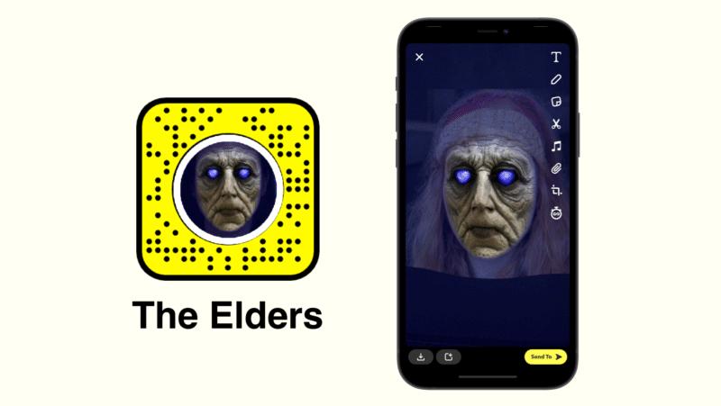 Фильтр Snapchat для старейшин