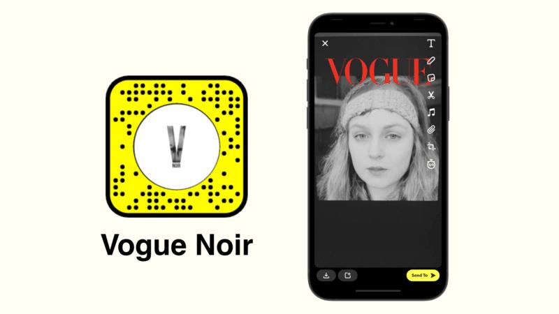 фильтр vogue noir Snapchat