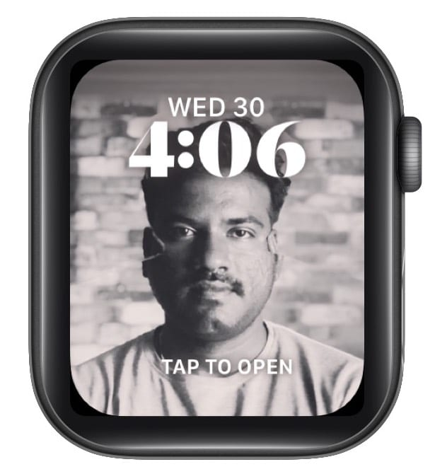 3D effect with Portraits watch face in watchOS 8