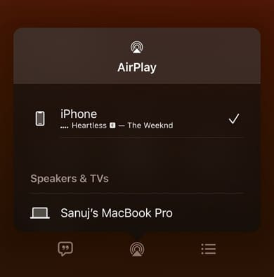 AirPlay from iPhone and iPad to Mac
