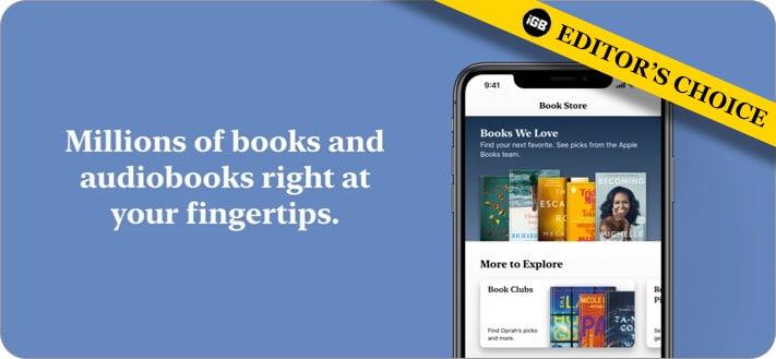 Apple Books ebooks reader apps for iOS