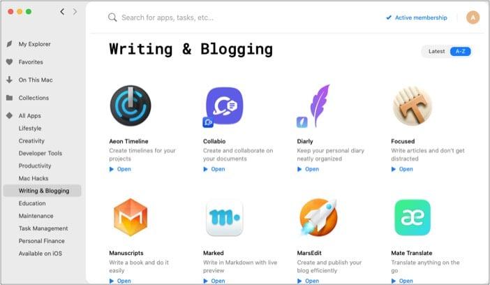 Apps for Writer & Blogging in Setapp Mac App Store