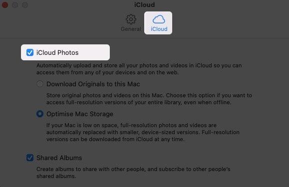 Check iCloud Photos from Mac