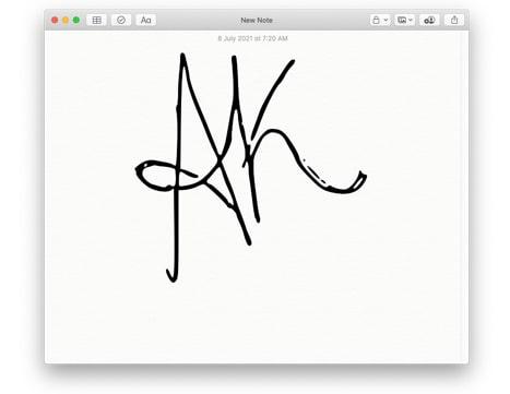 Create a transparent signature on Mac