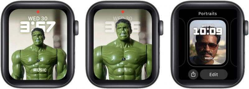 Customizations for Portraits watch face
