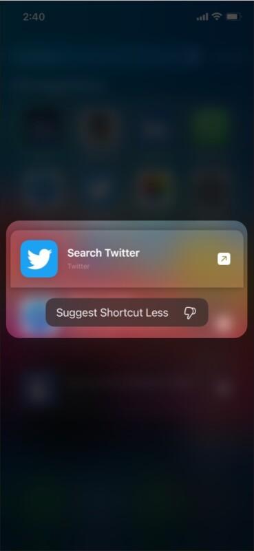 Delete history in iOS 15 Spotlight Search
