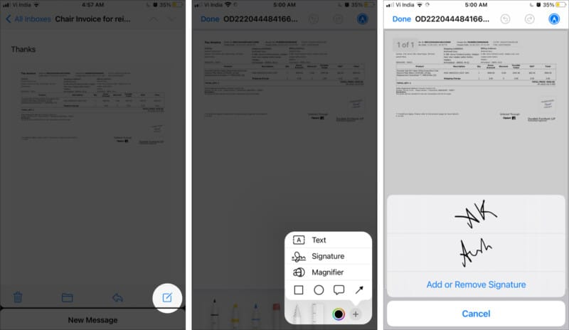 Directly sign files from the iPhone Mail app