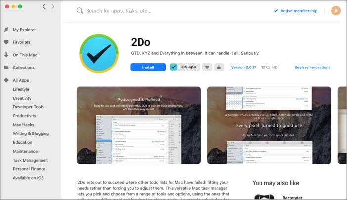 Download the iOS or macOS app with Setapp on Mac